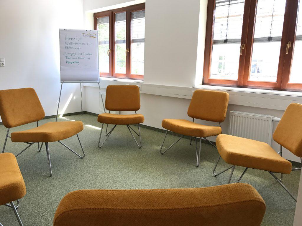 Schulungsraum der Bildungswerkstatt Pflege
